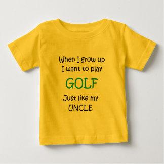 Cuando crezco el texto del golf solamente camisas
