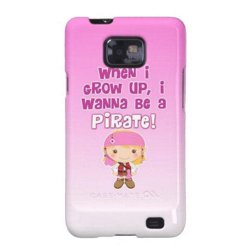 Cuando crezco, quiero ser pirata samsung galaxy s2 funda