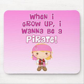 Cuando crezco, quiero ser pirata mousepad