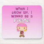 Cuando crezco, quiero ser pirata tapetes de raton