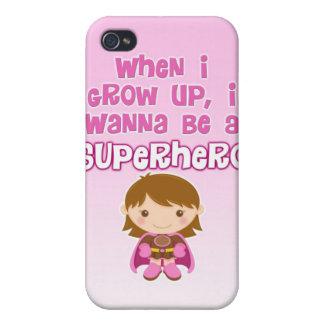 Cuando crezco, quiero ser un super héroe iPhone 4/4S funda
