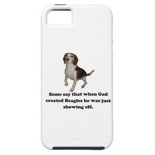Cuando dios creó beagles iPhone 5 coberturas