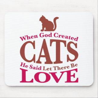 Cuando dios creó gatos tapete de ratón