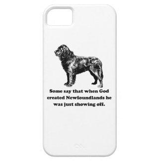Cuando dios creó Newfoundlands iPhone 5 Case-Mate Protectores
