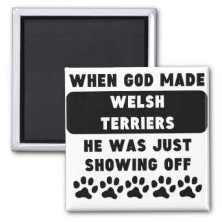 Cuando dios hizo terrieres galeses imán cuadrado