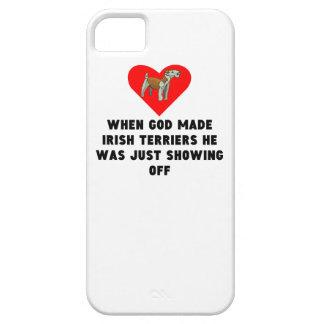 Cuando dios hizo terrieres irlandeses iPhone 5 fundas