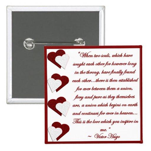 Cuando dos almas… Botón de la cita de Victor Hugo
