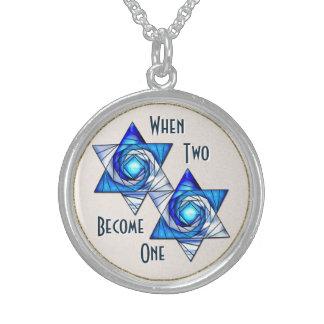 Cuando dos se convierten en uno - el entrelazar collares de plata esterlina