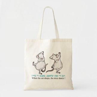 ¡Cuando duerme el gato, los ratones bailan! Bolsa Tela Barata