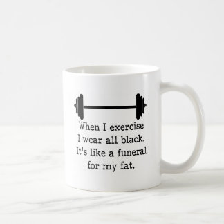 Cuando ejercito, cita divertida taza de café