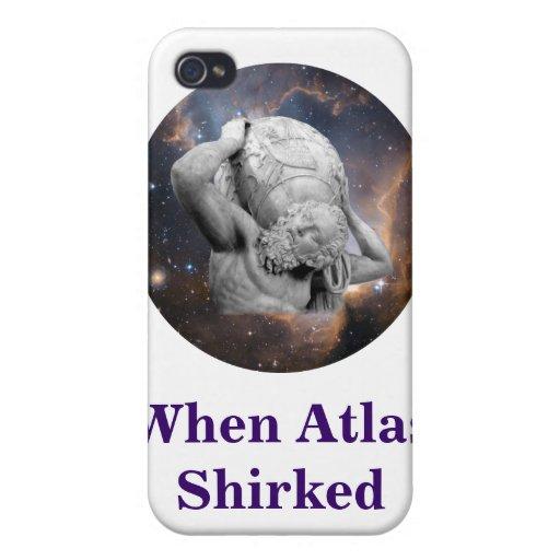 Cuando el atlas Shirked el medallón iPhone 4/4S Carcasas