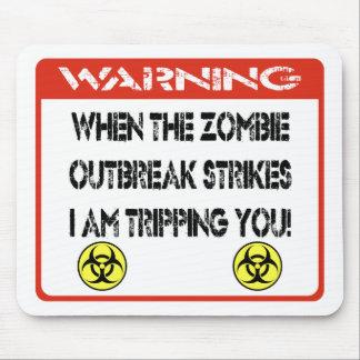 Cuando el brote del zombi me pega le están dispara tapete de ratones