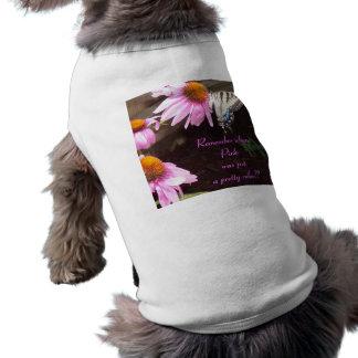 Cuando el rosa era apenas un color… camisa de perrito