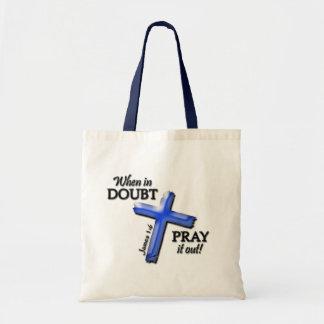 Cuando en duda… (azul) bolsa tela barata