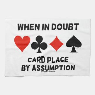 Cuando en lugar de la tarjeta de la duda por la toallas