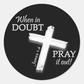 Cuando en pegatinas de la duda… etiqueta redonda
