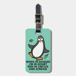 Cuando en peligro o en gráfico divertido del etiquetas bolsa