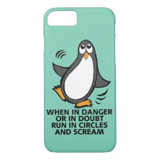 Cuando en peligro o en gráfico divertido del funda iPhone 7