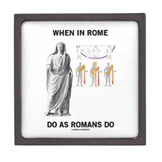 Cuando en Roma haga como hacen los romanos (la Cajas De Recuerdo De Calidad