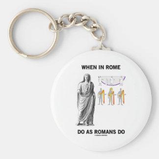Cuando en Roma haga como hacen los romanos (la Llavero Redondo Tipo Pin
