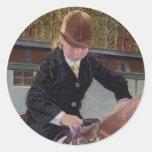 Cuando era joven - caballo etiquetas redondas