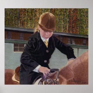 Cuando era joven - poster del arte del caballo