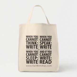 Cuándo escribir el tote del ultramarinos bolsas