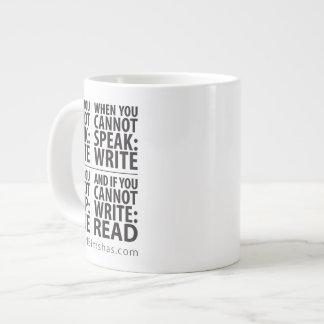 Cuándo escribir la taza enorme taza extra grande