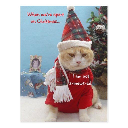 Cuando estamos separados en navidad…,… tarjeta postal