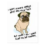 Cuando están estornudando los barros amasados tarjetas postales