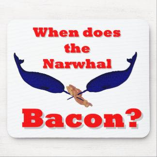 ¿Cuándo hace el tocino de Narwhal? Tapete De Ratón