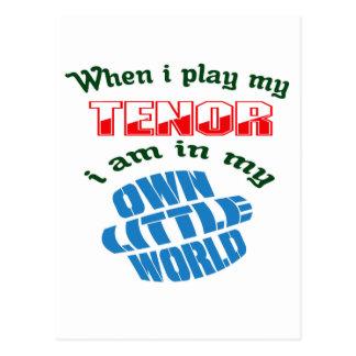 Cuando juego mi tenor postal
