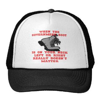 Cuando la bota del gobierno está en su cuello deja gorras de camionero