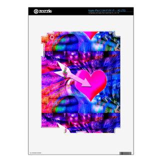 Cuando la flecha de la música apuntó el corazón iPad 3 skins