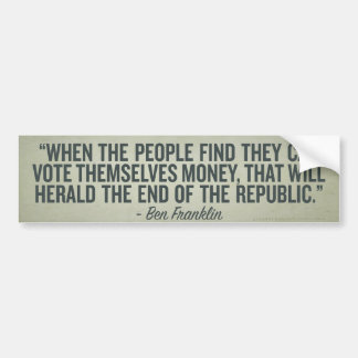 Cuando la gente se vota palillo del parachoque del etiqueta de parachoque
