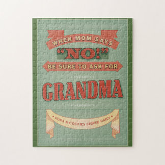 Cuando la mamá dice no, pida abuela. rompecabezas