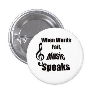 Cuando la música del fall de las palabras habla el pin redondo de 1 pulgada