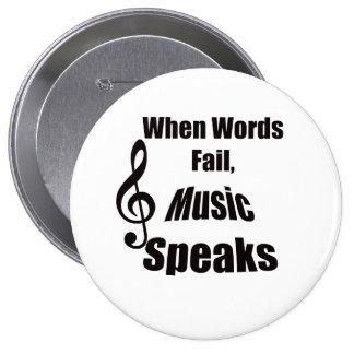 Cuando la música del fall de las palabras habla el pin redondo de 4 pulgadas