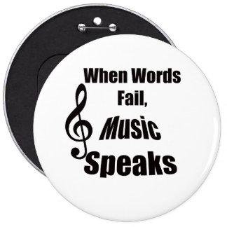 Cuando la música del fall de las palabras habla el pin redondo de 6 pulgadas