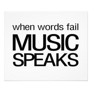 Cuando la música del fall de las palabras habla fotografía