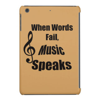 Cuando la música del fall de las palabras habla fundas de iPad mini retina