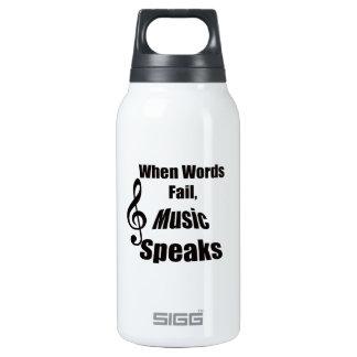 Cuando la música del fall de las palabras habla la
