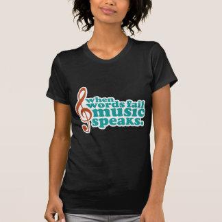 Cuando la música del fall de las palabras habla camisetas