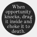 Cuando la oportunidad golpea etiquetas