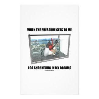 Cuando la presión me consigue van los sueños que papelería