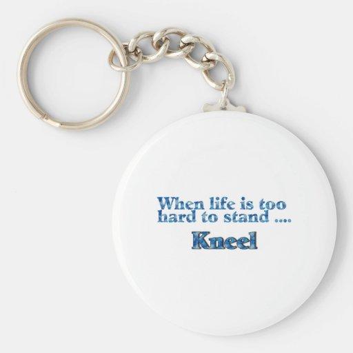 Cuando la vida es demasiado dura colocar el azul d llaveros personalizados
