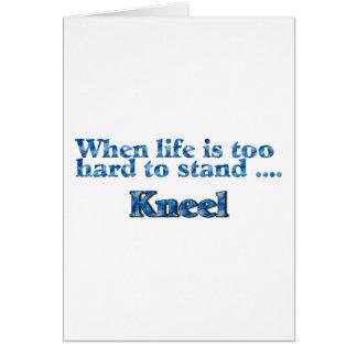Cuando la vida es demasiado dura colocar el azul d tarjeta de felicitación
