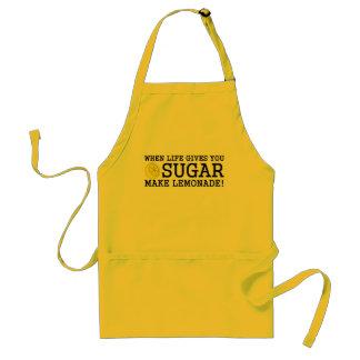 Cuando la vida le da el azúcar haga la limonada delantal