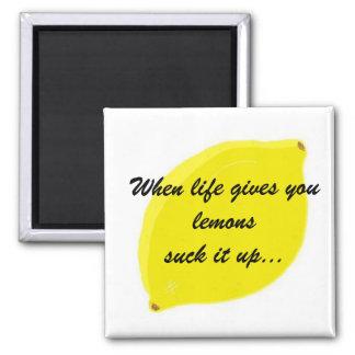Cuando la vida le da humor de los limones… imanes de nevera