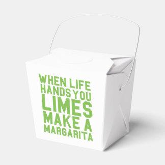 Cuando la vida le da las cales hacen a una cajas para regalos de fiestas